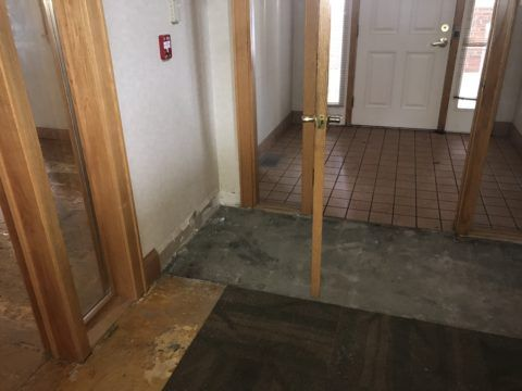 Entry way flooring removed